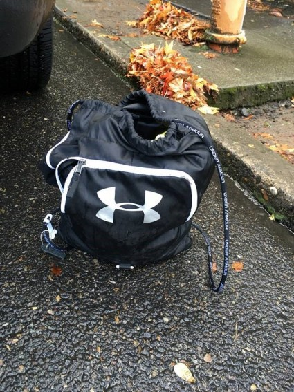 Backpack containing stolen jewelry