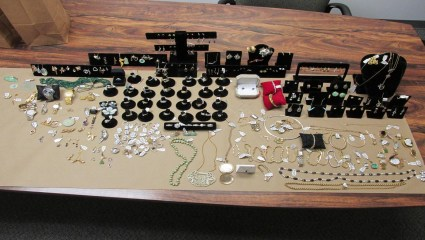 Stolen jewelry with estimated value of $250,000