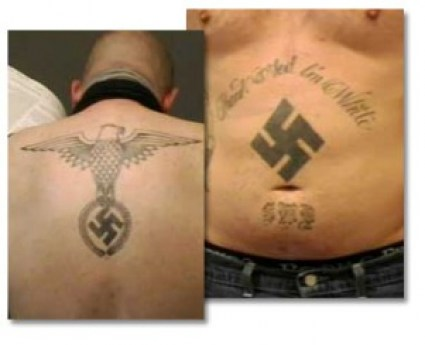"""Thank God I'm White"", swastikas, and other messages about the white race being superior to other ethnic groups are signs of White supremacist groups."